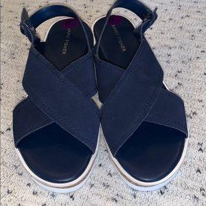 NEW Marc Fisher Platform Sandals Navy sz 8 1/2